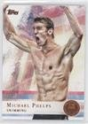 Michael Phelps (Trading Card) 2012 Topps U.S. Olympic Team and Olympic Hopefuls - [Base] - Bronze #100
