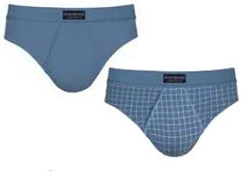 Ocean - Pack 2 Calzoncillos Slips Abanderado Abertura Frontal - Azul Claro, 60/2X: Amazon.es: Ropa y accesorios