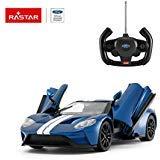 RASTAR Radio Remote Control 1/14 Scale Ford GT Licensed RC Model Car w/Open Doors (Blue)
