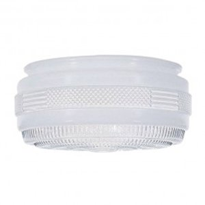 8-Inch Replacement Drum Glass Shade -7-7/8-Inch Fitter Opening ()