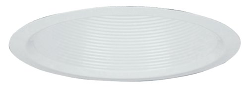 Lithonia Lighting 5B2W TOR R12 5-Inch Baffle Deep Full Reflector Recessed Light Trim, White