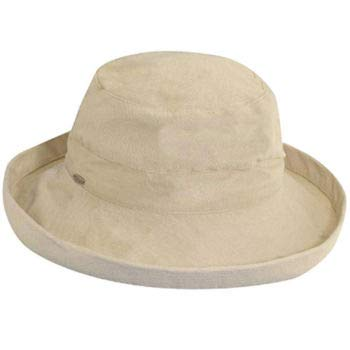 Scala Women's Medium Brim Cotton Hat, Natural, One Size