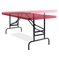 National Public Seating BTA3072 Series Steel Frame Rectangular Adjustable Height Plastic Top Folding Table, 1000 lbs Capacity, 72