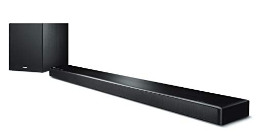 Yamaha MusicCast YSP-2700 Sound Bar with Wireless Subwoofer, Works with Alexa (Renewed)