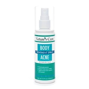 Nature's Cure Body Acne Treatment Spray 3.5 oz (Pack of 3) (Best Cure For Body Acne)