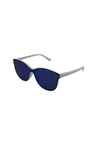 White unique soleil Lunettes Frame Mirrored Blue Lens de Homme with taille Finecy In xn6Uqw4WC