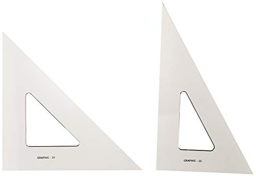 Alvin, AS1012, Transparent Triangle Set, 10