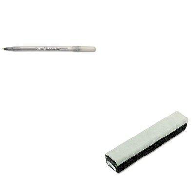 KITBICGSM11BKQRT807222 - Value Kit - Quartet Deluxe Chalkboard Eraser/Cleaner (QRT807222) and BIC Round Stic Ballpoint Stick Pen (Qrt807222 Deluxe Chalkboard Eraser)