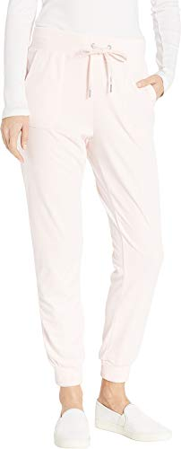 Juicy Couture Women's Glitter Outline Logo Velour Jogger Primrose Pink Small 27