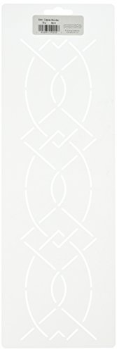 Quilting Creations Cable Border Quilt Stencil, 3-1/4