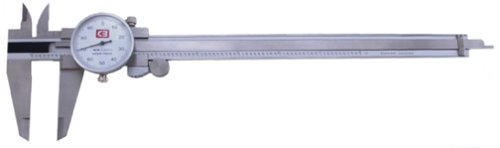 Chicago Brand 50005 8-Inch Premium Dial Caliper with Inside, Outside, Step and Depth Measurement