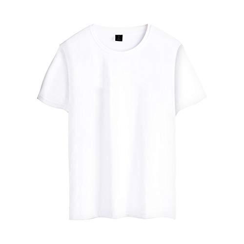 Encounter Y Short Sleeve Funny Sound Band T-Shirt Men Cotton Fashion Pop Music Tee Shirt,White,XS