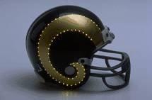 Optic Fiber Replica Helmet (NFL Los Angeles Rams Helmet Mini VSR4, One Size, Team Color)