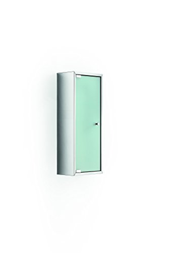 LB Pika Wall Medicine Cabinet Storage Unit w/ Frosted Glass Door - 9.84