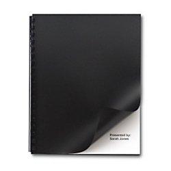 GBC Solids Standard Presentation Covers, Non-Window, Square Corners, Black, 50 Pieces Per Box (2514493) ()