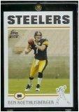 2004 Topps # 311 Ben Roethlisberger RC - Pittsburgh Steelers NFL Football Rookie Card In Display Case