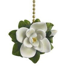 Magnolia Flower Ceiling Fan Pull ()