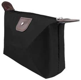 Omaliss Cosmetic case Eye Shadow Brush Convenient Makeup Brush Travel Bag Mini Layered Cosmetic Bag for car Desktop Bag for auto Desktop Black