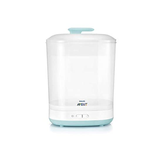Philips Avent Avent 2-in-1 Electric Steam Steriliser (Multicolor)&Huggies Taped Diapers, New Born (Xs) Size, 72 Counts