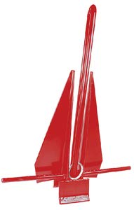 Seachoice 41726 PVC Coated Slip Ring Anchor - Protects Boat Surfaces from Damage - 8 Pounds - Red