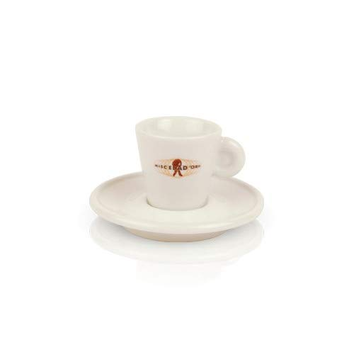 A/d Saucer - Miscela D'Oro Espresso Cups w/Saucers - Porcelain - Pack of 6 - Made in Italy