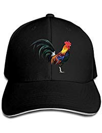 Safan532 Lifelike Rooster Funny Logo Fashion Unisex Design Cotton Cap Adjustable Baseball Hat Caps Black -
