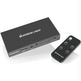 IOGEAR Accessory GHDSW4K4 4-Port 4K HDMI Switch with Remote