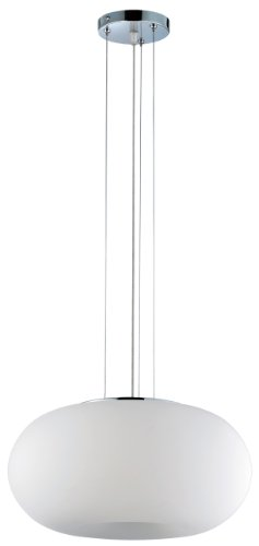 Eurofase 12895-052 Pop-2 3-Light Convertible Pendent, Chrome/White - 2 Light Convertible Fixture
