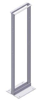 BHRR194 - Belden Aluminum 2 Post Knockdown Relay Rack, 84