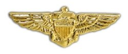 Navy Pilot Wings Small Pin (Naval Aviator Wings)