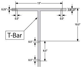 10pc Case of 42'' T-Bar Sign Stakes