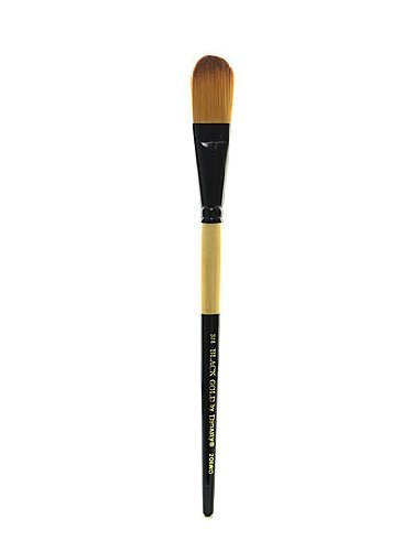 Dynasty Black Gold Series Synthetic Brushes Short Handle 3/4 in. oval wash by DYNASTY