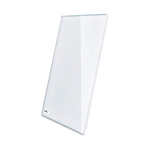 (LIVOLO Blank Wall Plate,Standard Size 1-gang,No Switch Function Only For Decoration,White Tempered Glass Panel C5-C0-11)