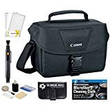Canon bien acolchado Multi Compartment Compact cámara réflex digital EOS Rebel Gadget Case + Lens Cleaning Pen + Protector...
