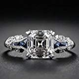 te Topaz Vintage Jewelry 925 Silver Wedding Engagement Ring Size 6-10 (7) ()
