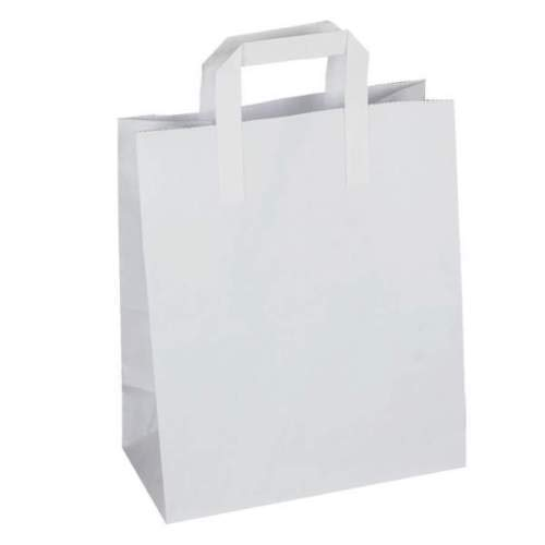 We Can Source It Ltd Papiertüten für SOS, mit Griffen, Griffen, Griffen, Braun Weiß, Large - 10 x12 x5.3  - Weiß B07MJQ2WQ5 | Modern  | Abrechnungspreis  | Moderne und stilvolle Mode  579237