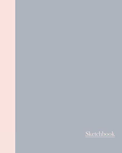 Sketchbook: Color Duo (Grey and Pink) 8x10 - BLANK JOURNAL WITH NO LINES - Journal notebook with unlined pages for drawing and writing on blank paper -