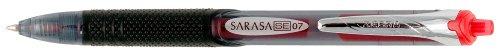 Zebra Sarasa SE Rapid Dry Ink Gel Retractable Pen, 0.7mm, Red, 12 Pack (46430)