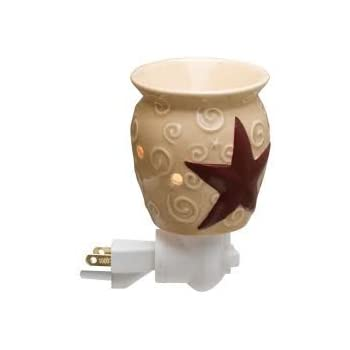 Scentsy Rustic Star Plug In Warmer For Melting Wax Tarts