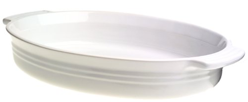 Le Creuset Stoneware 14-Inch Oval Baking Dish, White by Le Creuset