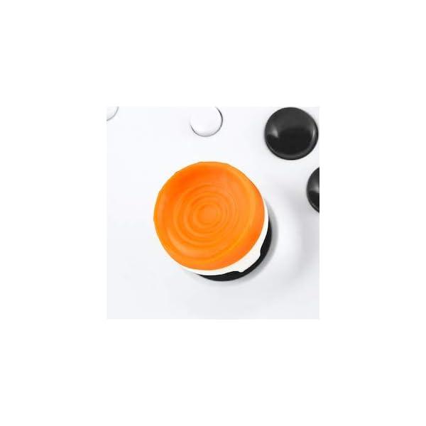 KontrolFreek Rush Performance Thumbsticks for Xbox One | Performance Thumbsticks | 2 Mid-Rise, Concave | Orange/White 6