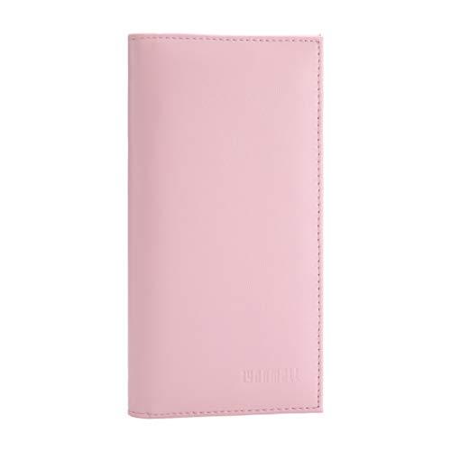 YOOMALL Leather Checkbook & Register Cover Holder Case Slim Wallet For Men & Women ()