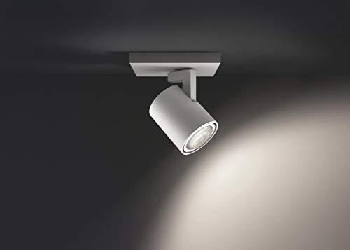 2 x 5.5 W, GU10, Iluminaci/ón inteligente - luz blanca natural LED, compatible con Apple Homekit y Google Home Philips Hue White Ambiance Runner Interruptor inal/ámbrico incluido Dos Single spot