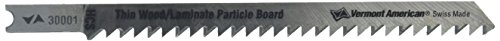 Vermont American 30001 U Shank 4 1/8-Inch 8TPI Wood and Plastic Cutting High Carbon Steel Jigsaw Blade