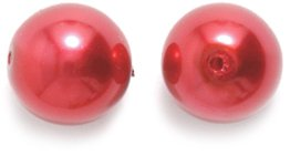 Preciosa Ornela Imitation Round Glass Pearl, 10-mm, Red, 60-Pack