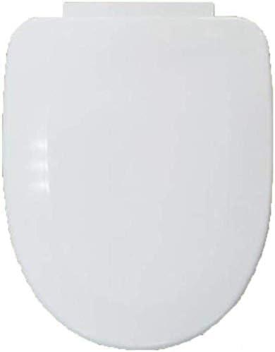 HTTWYトイレ蓋 便座V/Uは*バスルーム、洗面所、ホワイト-40-43用トイレのカバーを取り付けたバッファーパッドクイックリリース超耐熱底部とトイレの蓋形状34cmの