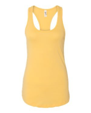 Next Level Apparel Women's Ideal Racerback Tank - Medium - Banana Cream (Next Banana Cream Level)