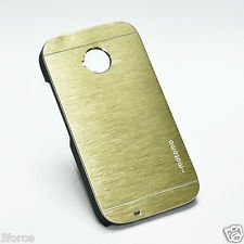 check out 061ab 334f5 Moto E2 Back Cover Motomo Case (Gold) by First 4