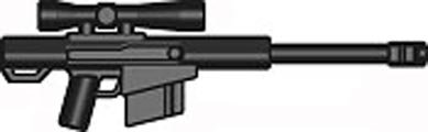 BrickArms 2.5 Scale LOOSE Weapon High Caliber Sniper Rifle HCSR Black (Caliber Sniper Rifle)