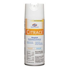 Citrace Hospital Disinfectant & Deodorizer, Citrus, 14oz Aerosol, 12/Carton by Reg